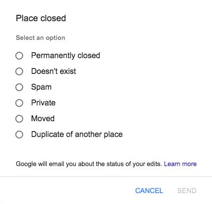 Google Business Page Feedback