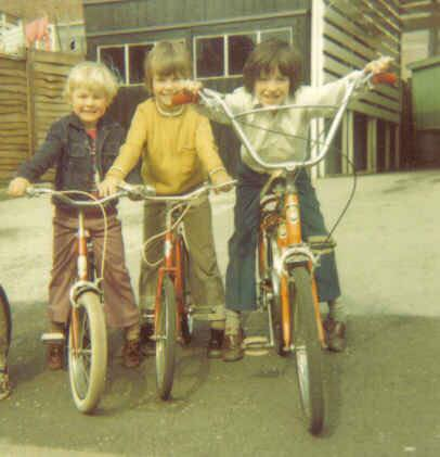 Regan Tetlow as a child riding his bike