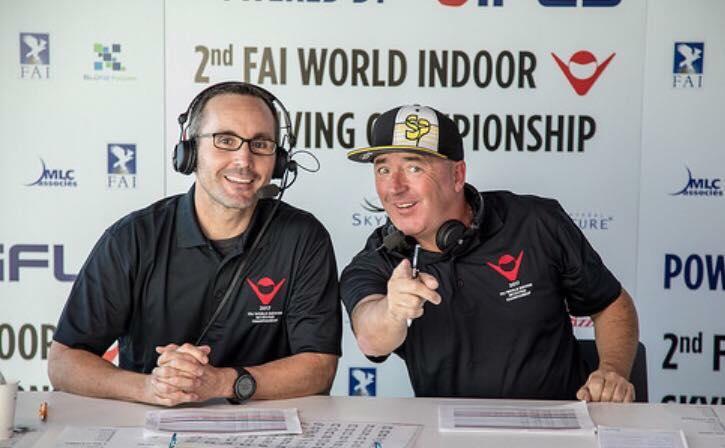 Regan Presenting at the 2nd FAI World Indoor Skydiving Championships