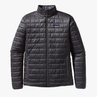 A product image of a black Patagonia Nano Puff Jacket