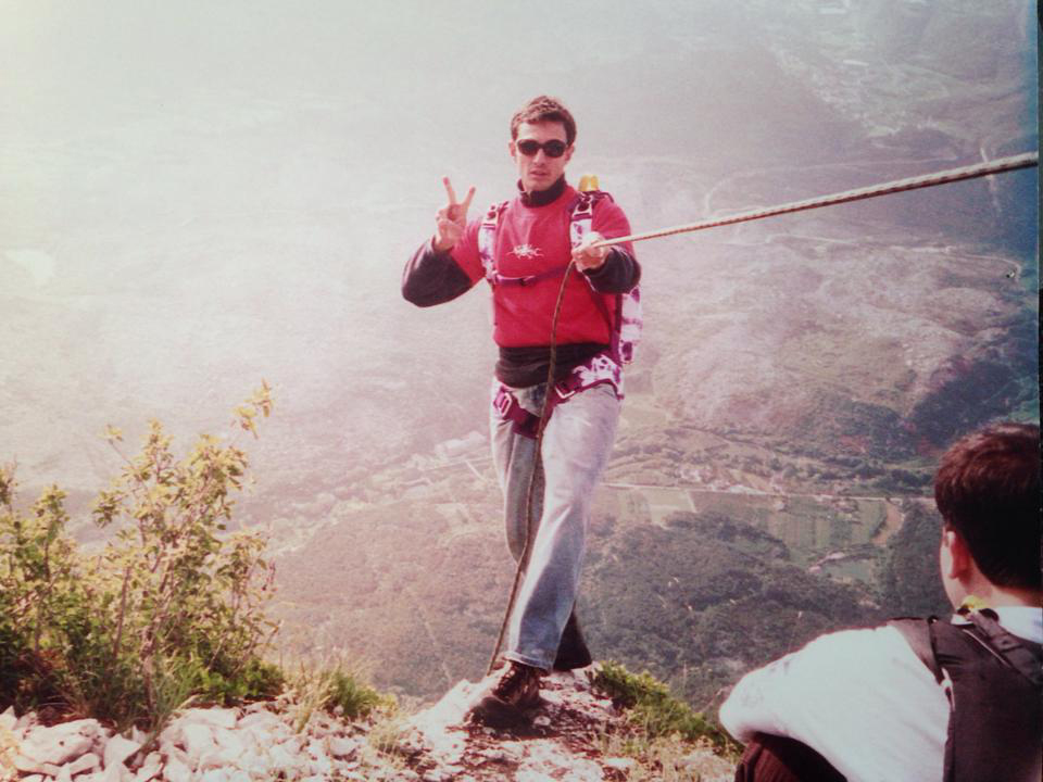 1999 - Ready to Jump Mt. Brento, Italy.
